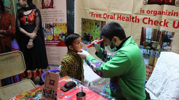 kids dental check up by dr. Arnab Sengupta