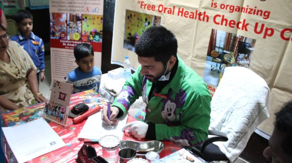 Free oral health check up organized by Kidz Dental Centre
