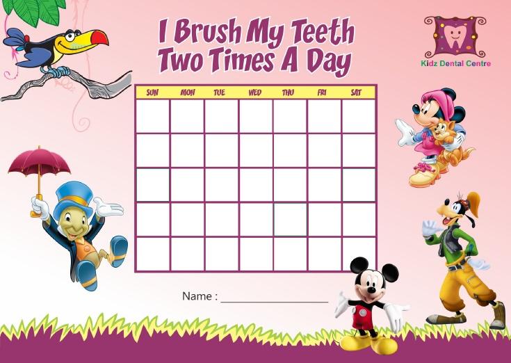 Teeth Brusing chart